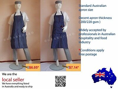 Quality Adjustable Full Bib Pinstripe Chef/Butcher Apron Buy more Save more