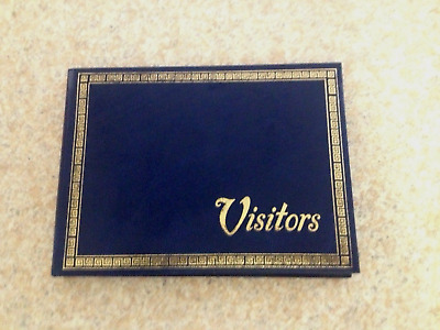Visitors Book 190 x 140mm 100 Page  Blue