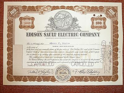 Edison Sault Electric Co.,. 100 Shares, Michigan, 1950, E-VERSORGER