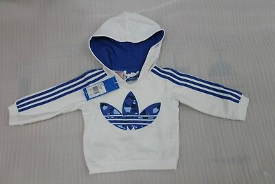 Boy,s ,s Adidas Original Fleece Hoodie White Tracksuit Top Bnwt   Rrp 34.99
