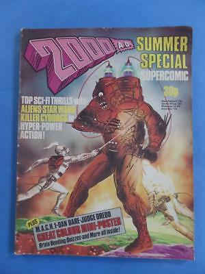 2000Ad Summer Special 1977 Supercomic With Poster! Star Wars Feature!*