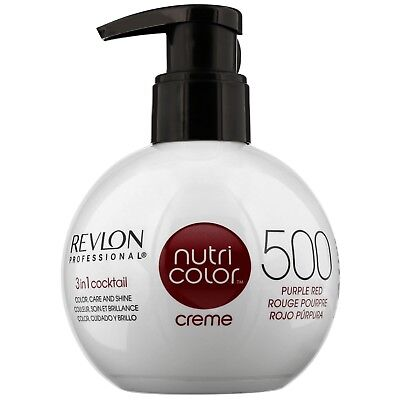 NEW Revlon Professional Nutri Color Creme 3-in-1 Cocktail 500 Purple Red 270ml
