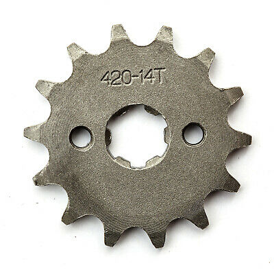 Quad Bike Heavy Duty Steel 420 14 Tooth Sprocket 17mm Hole 110cc 125cc 140cc