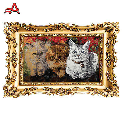 Tapestry-Cats Drawn Knitted Wall Carpet,Tapestries-Goblen-Arras -Cats
