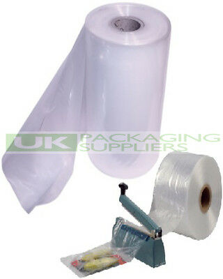 "1 LARGE ROLL OF 15"" CLEAR LAYFLAT TUBING 500gauge POLYTHENE PLASTIC 168 METRES"