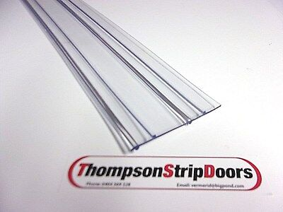 PVC Strips -14 strips at 2150mm long 75mm wide x 2mm thick RIBBED Heavy Duty PVC