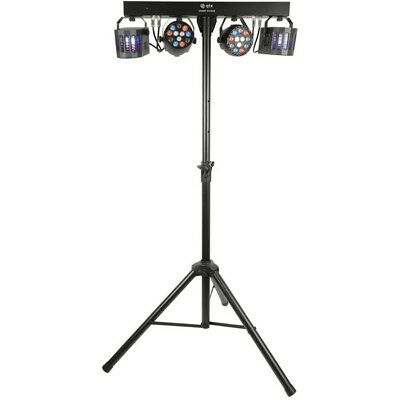 QTX Derby FX Bar LED Party Bar All-in-one DJ Disco Lighting Kit with Stand