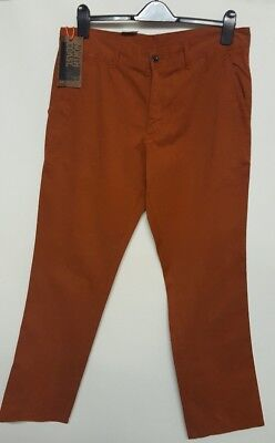 top quality strong packing catch MENS CHINO TROUSERS New M&s North Coast Cotton Rust Slim Fit 32 34 36 Waist