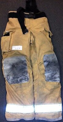 36x36 Pants & Suspenders Firefighter Turnout Bunker Fire Gear Globe Gxtreme P711