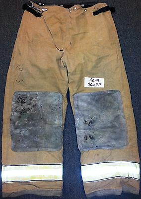 36x28 Trad Trouser Pants Firefighter Turnout Bunker Fire Gear w Liner Globe P649