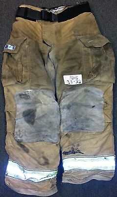 38x32 Pants Firefighter Turnout Bunker Fire Gear w/ Liner Globe Gxtreme P645
