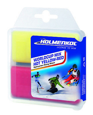 Holmenkol Worldcup Mix HOT YELLOW-RED 2x35g Skiwachs (14,27€*/100g) - NEUWARE