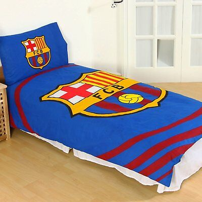 Official Barcelona FC Gift Kids 'Pulse' Single Duvet Cover and Pillowcase Set