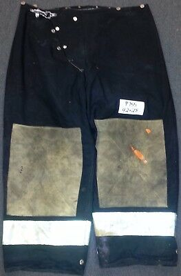 42x28 Firefighter Pants Bunker Fire Turn Out Gear Black Morning Pride P755