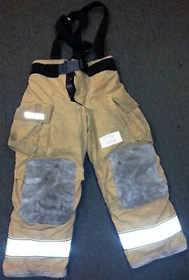 38x30 Pants & Suspenders Firefighter Turnout Bunker Fire Gear Globe Gxtreme P746