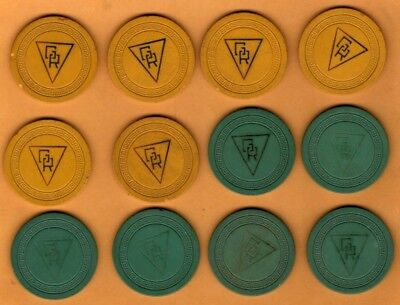 12 Chip Lot of GR Glenn Rendezvous Newport Kentucky Chips Illegal KY club old