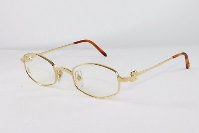0aae2e894b Cartier Octagon Gold Eyeglasses T8100426 Frames Authentic France New 48 mm