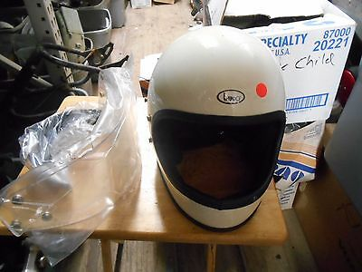 NOS Vintage Retro Buco Solid White Small Full Face Motorcycle Helmet 1825 4