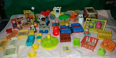LARGE Lot-VINTAGE  Fisher-Price Little People & MORE! VARIETY! SOME HTF!!!