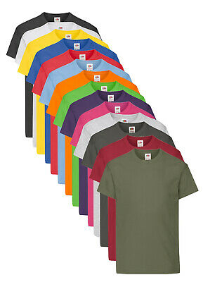Fruit Of The Loom Blank Plain Childrens Kids T-shirt 1-13 Years School Craft And To Have A Long Life. Boys' Clothing (2-16 Years)