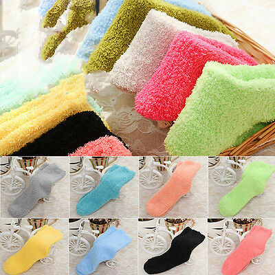 1Pair Girls Bed Socks Fluffy Warm Winter Kids Gift Soft Floor Home AccessoriesHG