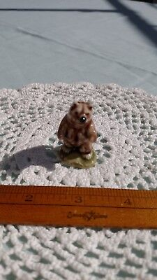 Vintage Rare Wade Porcelain Figurines Whimsies Standing Grizzly Bear Brown