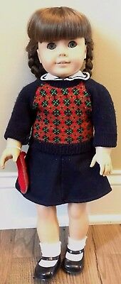 """Retired American Girl Doll Molly w/Meet Outfit West Germany 18"""" *Bonus*"""