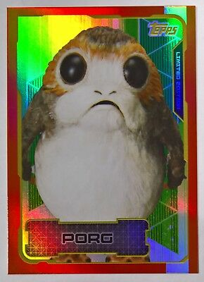 Topps Disney Journey to Star Wars The Last Jedi PORG LIMITED EDITION Card LETB