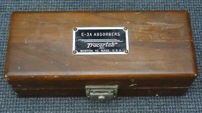 (B13) TracerLab, Inc. E-3A Absorbers - Complete with 25 Absorbers Tweezers Key