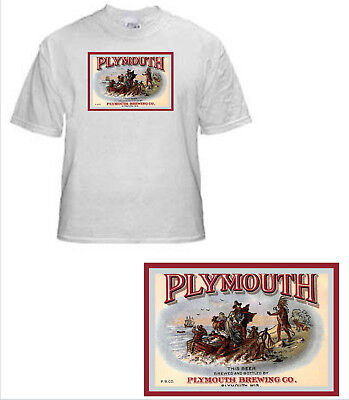 Plymouth Brewing Beer Label T Shirt Plymouth Wi Small - Xxxlarge