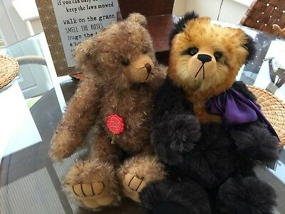 Hermanns Original Collectible  Curly Mohair Teddy 16""