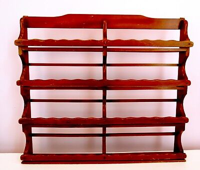 Unusual Vintage Extra Large Wooden Spice Rack NEW YORK STYLE
