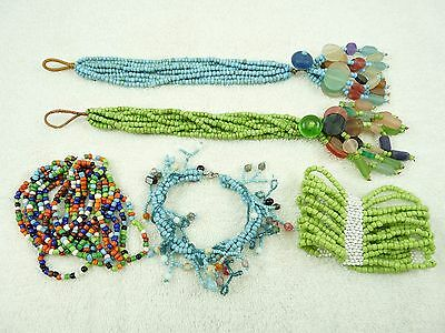 Mixed Lot of Vintage Beaded Bracelets #4
