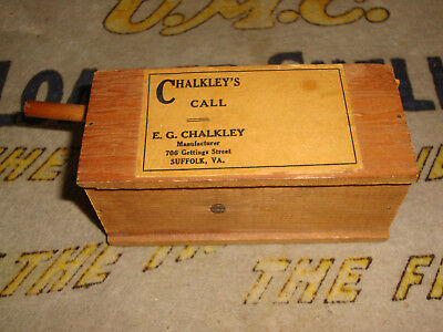 Rare Early Original Chalkley's Turkey Call W/ Slide Lid, Lynch Or Old Game Calls