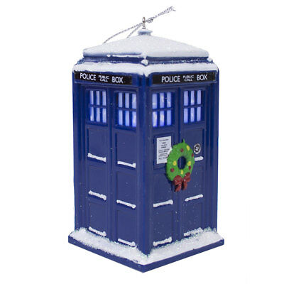 Doctor Who Light Up TARDIS with Wreath 4 1/4-Inch Ornament