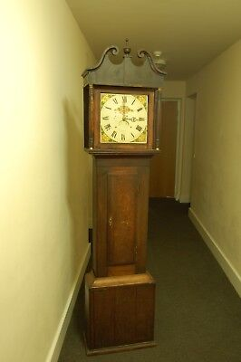 Antique  Oak Longcase / Grandfather Clock Spares Or Repair