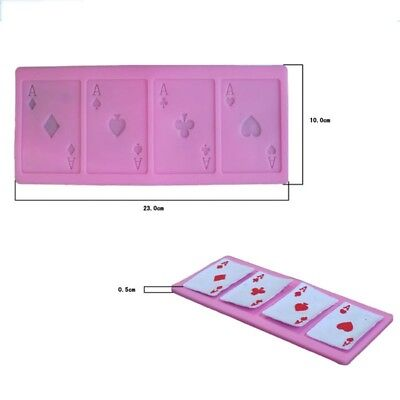 Poker A Shaped Chocolate Mold Silicone Mold Kitchen Baking Tool Cake Decoration