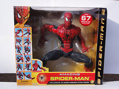 "Amazing Spider-Man The Ultimate 18"" super Poseble Action Figure Toy Biz"