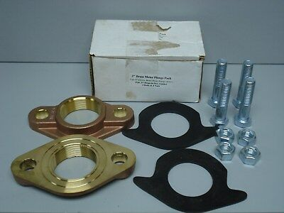 "2"" Lead-free Brass Water Meter Flange Connection Kit For 2"" Meter, w/bolts, gkts"