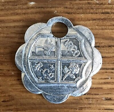"Vintage Aluminum Key Fob Charge Coin ""arco""   No. 37275"
