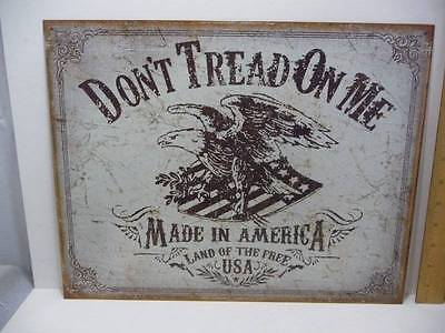 "Don't Tread On Me Made in America Tin Metal Sign 12 1/2"" x 16"" New"