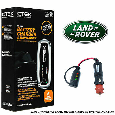 Aston Martin CTEK 7A Battery Charger Tender Conditioner & Adapter