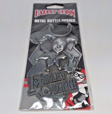 HARLEY QUINN! Metal Bottle Opener BRAND NEW - Heavy Duty DC COMICS