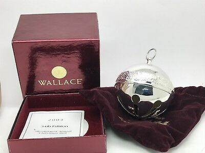 Wallace 2004 Silver Plated Sleigh Bell Christmas Ornament 34th Annual