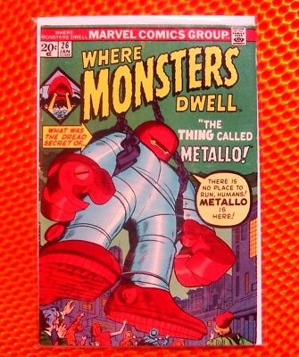 WHERE MONSTERS DWELL #26 Marvel The Thing Called Metallo 20¢