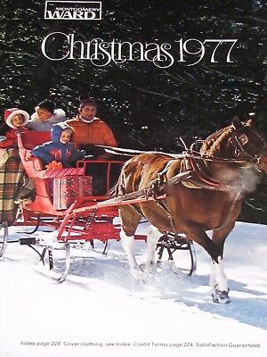 Vintage 1977 Montgomery Ward Christmas Catalog with toys jewelry clothing shoes