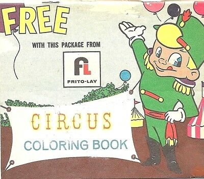 Frito-Lay 1960s Premium CIRCUS COLORING BOOK With Purchase of PotatoChip Package