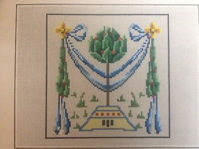 Antique woolwork pattern with trees by Bruno Borner in Berlin