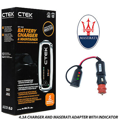Rolls Royce CTEK MXS 5.0 Battery Charger Tender & Adapter Wraith Ghost Dawn