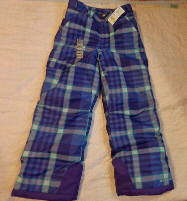 Columbia Bugaboo Omni Tech,md 10/12 Youth Ski Lining Pants,fleece,insulation,exc